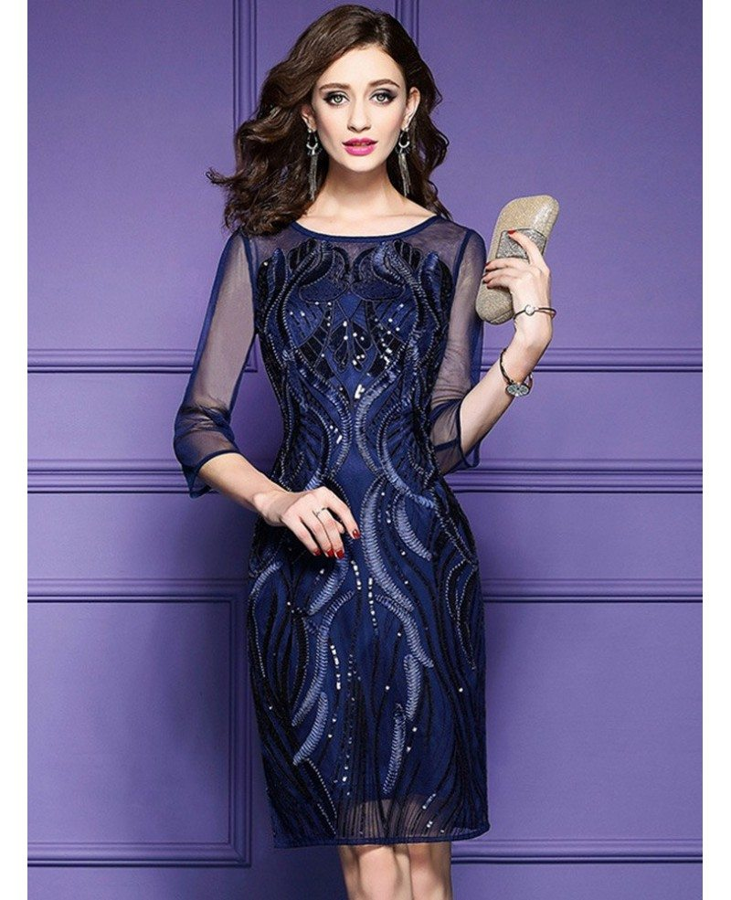 royal blue wedding guest dress royal blue luxe embroidered cocktail dress for 7165