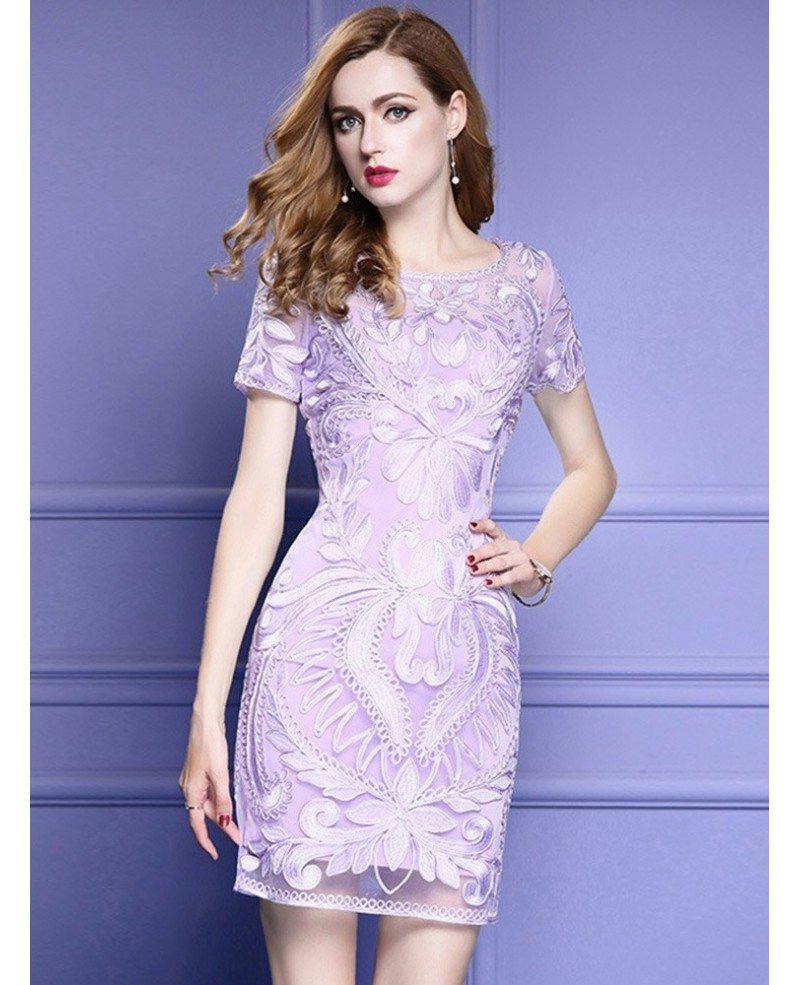 Bodycon wedding dress short