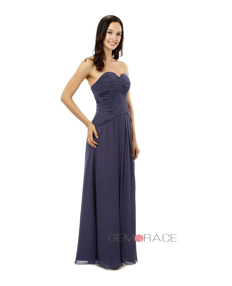 Sheath Sweetheart Floor Length Bridesmaid Dress Cy0247