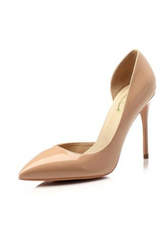 Patent Leather Black Prom Shoes With Pointed Toe