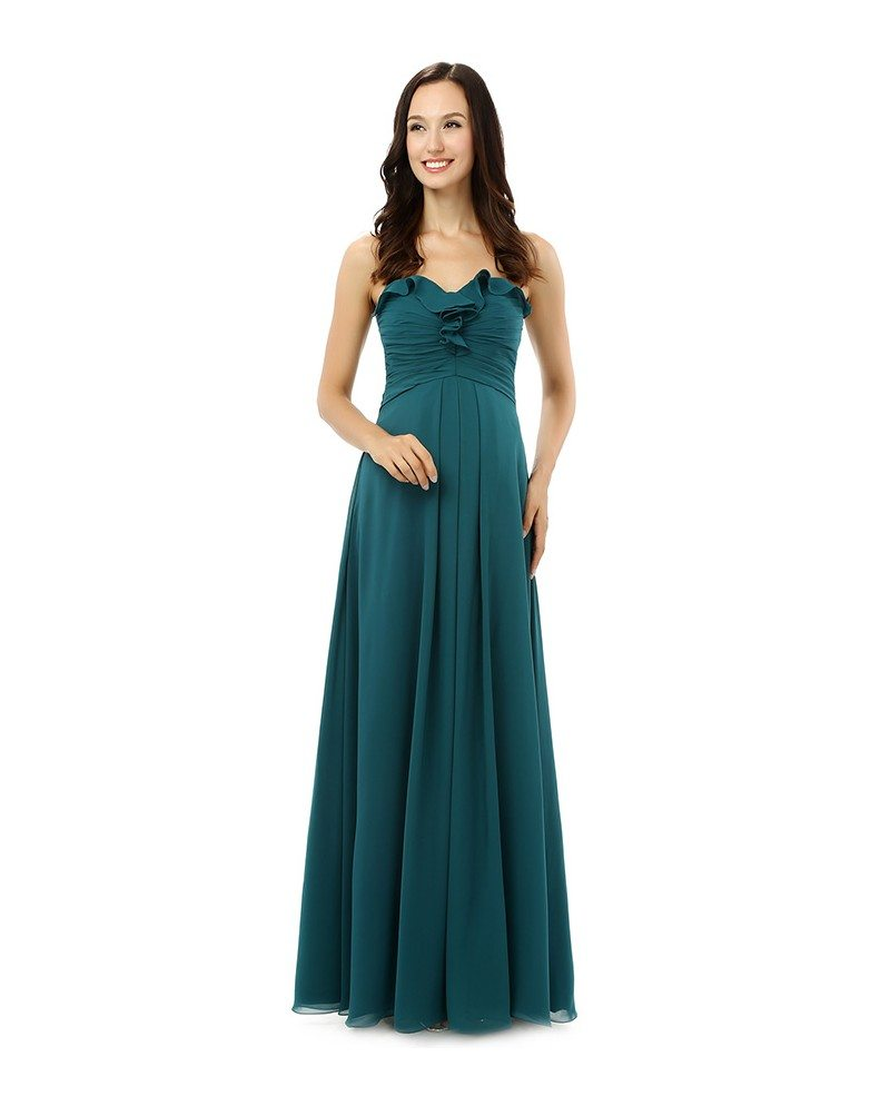 Sheath Sweetheart Floor Length Bridesmaid Dress Cy0248