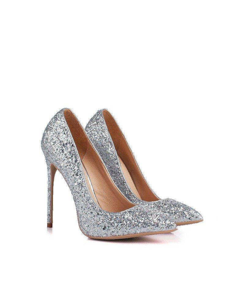 Sparkly Sequin Silver Wedding Shoes For 2018 Brides #MSL ...