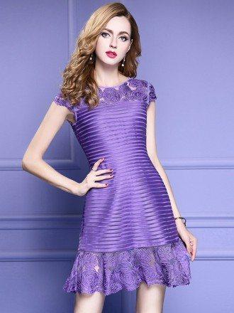 Purple Wedding Guest Dresses, Purple Dresses Wedding Guest -GemGrace