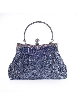 Satin Clutches with Beading Style