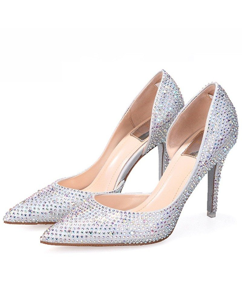 Buy Silver Sequin Stiletto Heel Wedding Shoes From educationcenter.ml will find many fashionable products from Bridal Shoes collections.