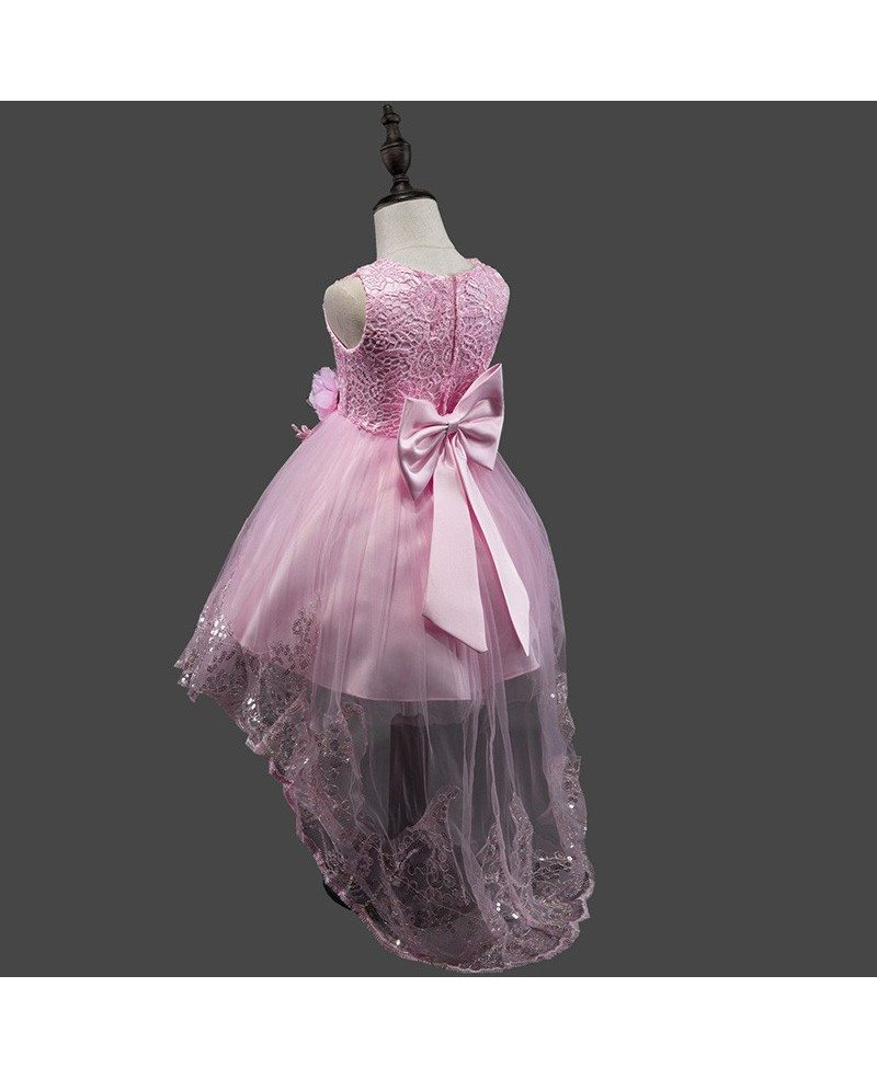 379 high low purple cheap flower girl dress with sequin trim qx high low purple cheap flower girl dress with sequin trim izmirmasajfo