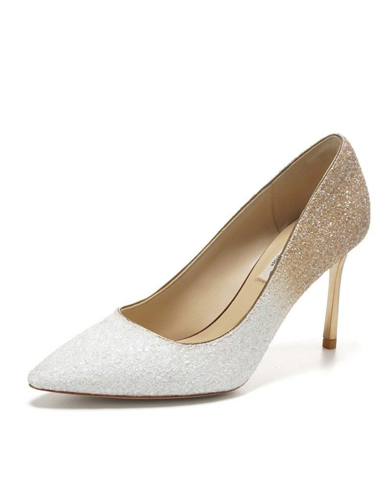 Different Shining Black Wedding Shoes High Heels For Brides ...