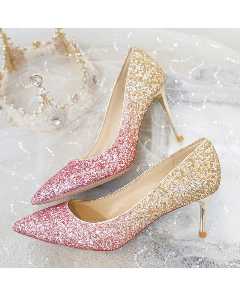 Different Shining Black Wedding Shoes High Heels For ...