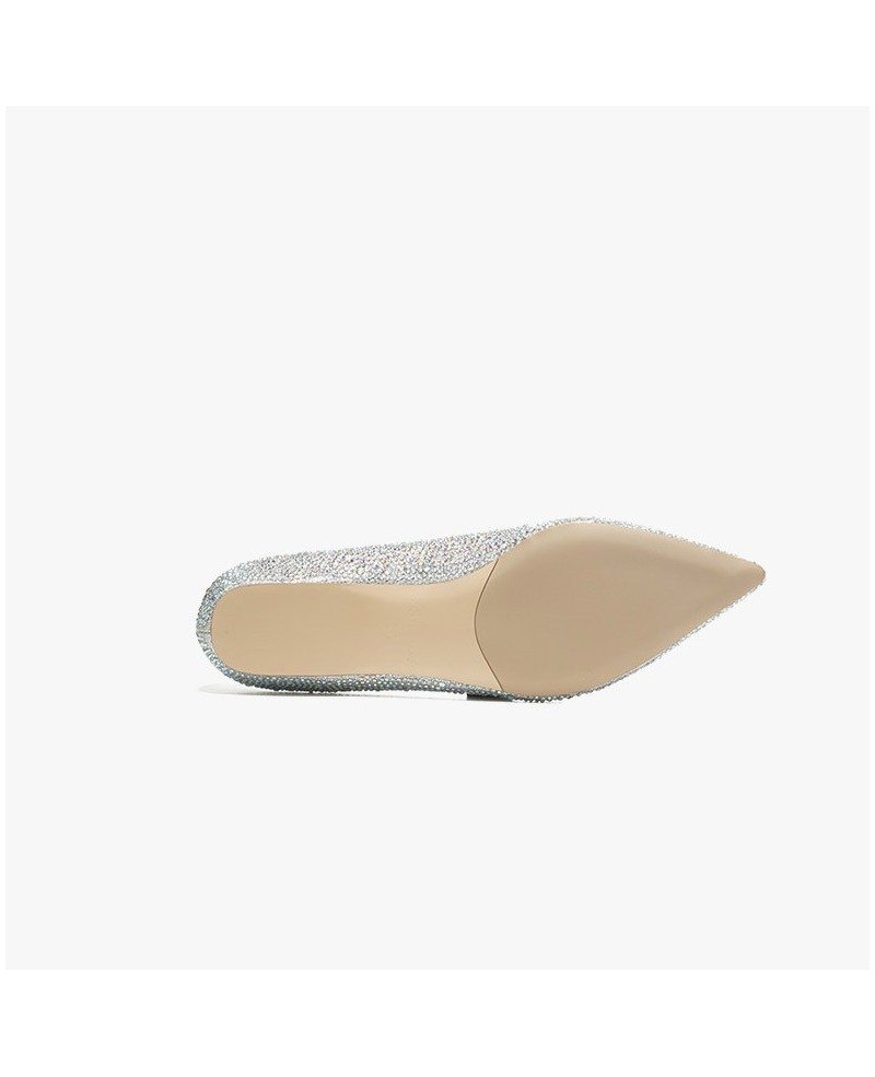 Simple Comfortable Shining Bridal Shoes With Sheepskin