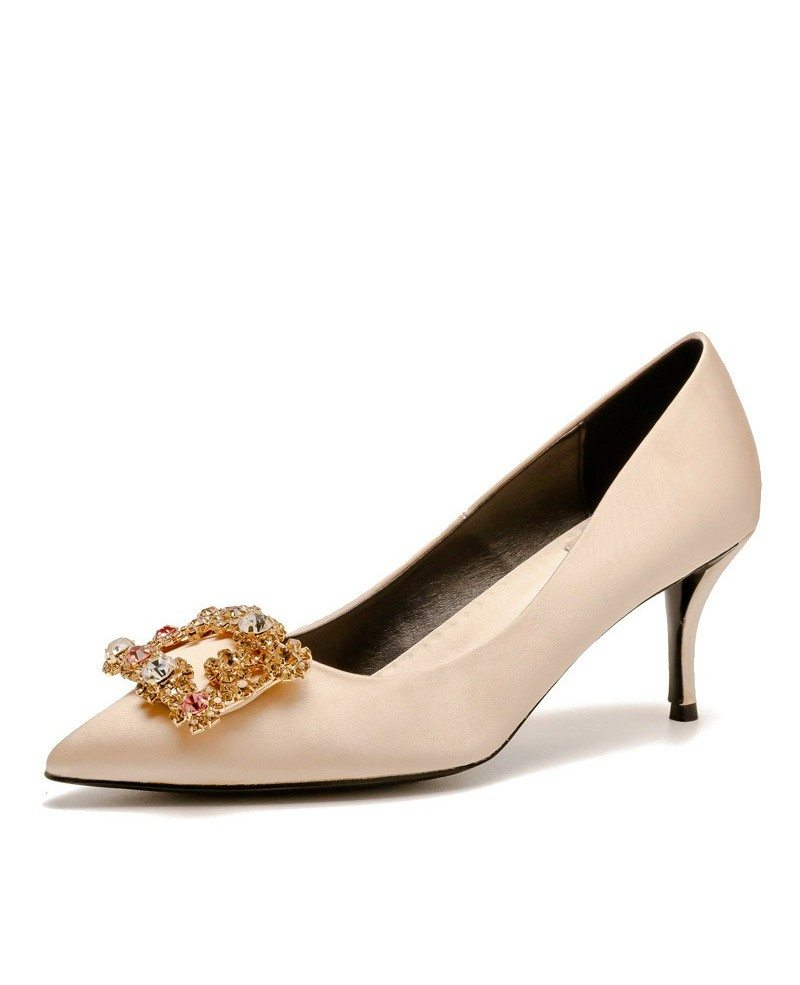 Wedding Shoes Australia: Winter Champagne Rhinestones Wedding Shoes With Fur Insole