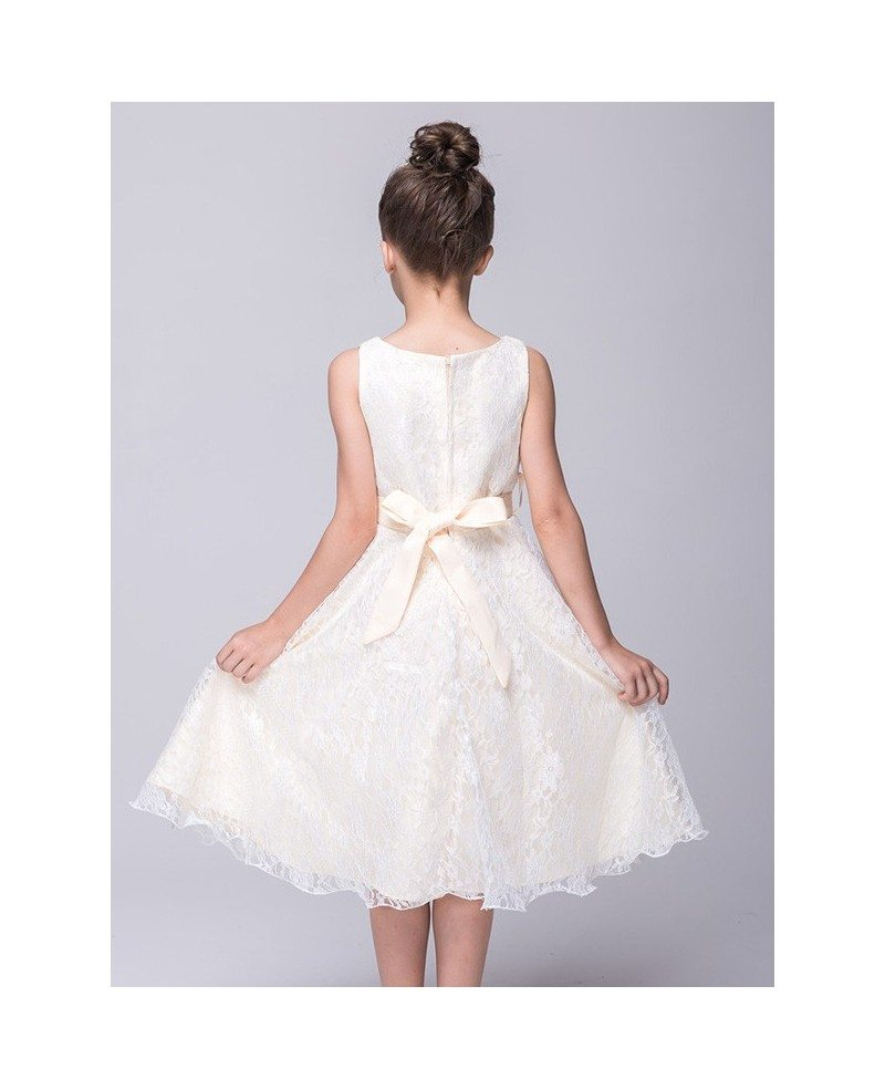 Flower lace girl dresses cheap