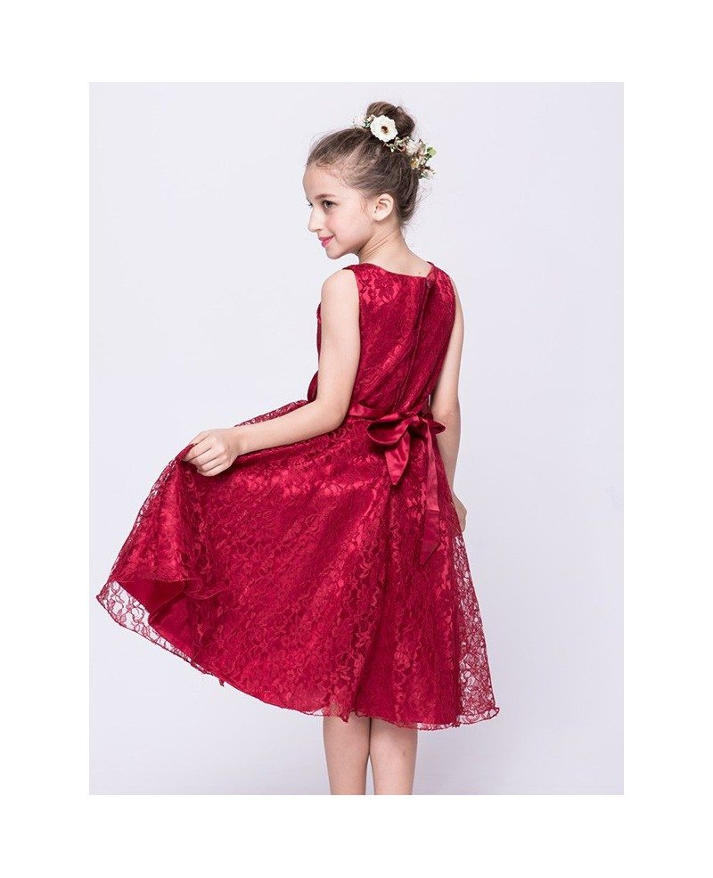 Flower lace girl dresses cheap best photo