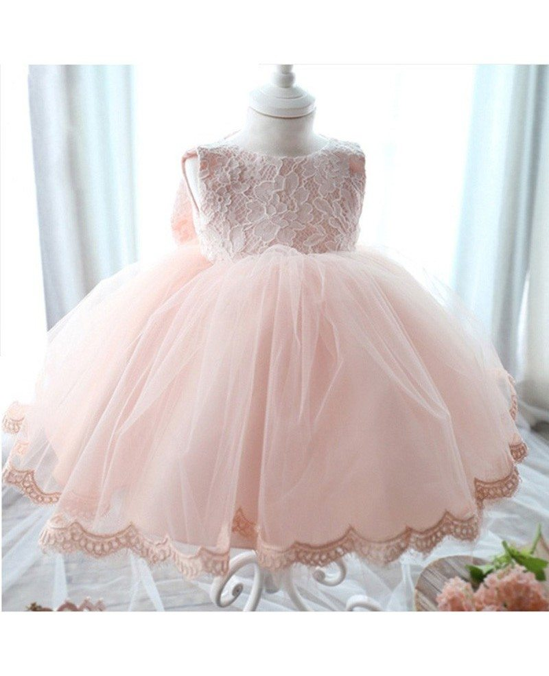 319 Super Cute Infant Flower Girl Dress Ballgown Wedding Dress For
