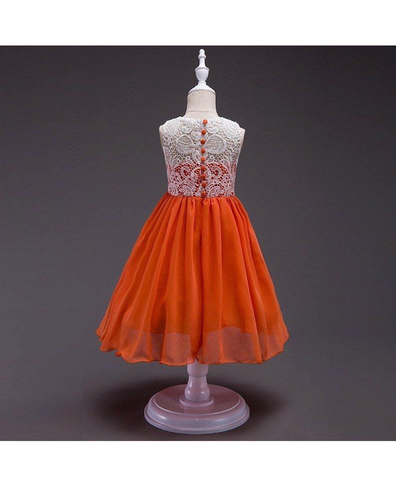 359 simple orange chiffon flower girl dress with white lace bodice simple orange chiffon flower girl dress with white lace bodice mightylinksfo