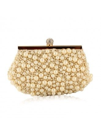 Satin Pearl Clutches  Style