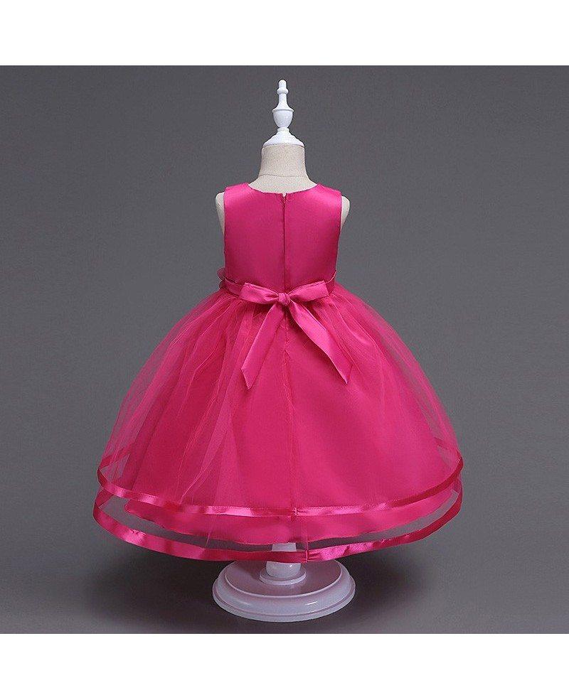 36 9 princess simple white flower girl dress for little girls  qx-b815