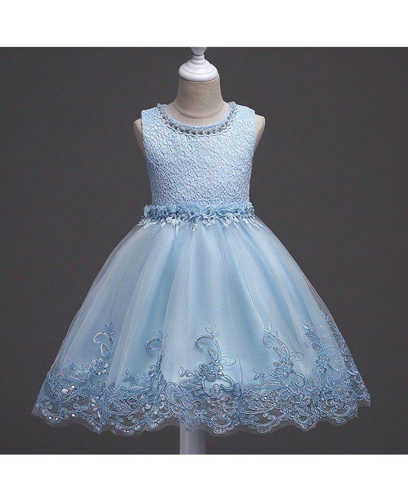 $35.9 Princess Lavender Lace Flower Girl Dress Short for Teen Girls ...