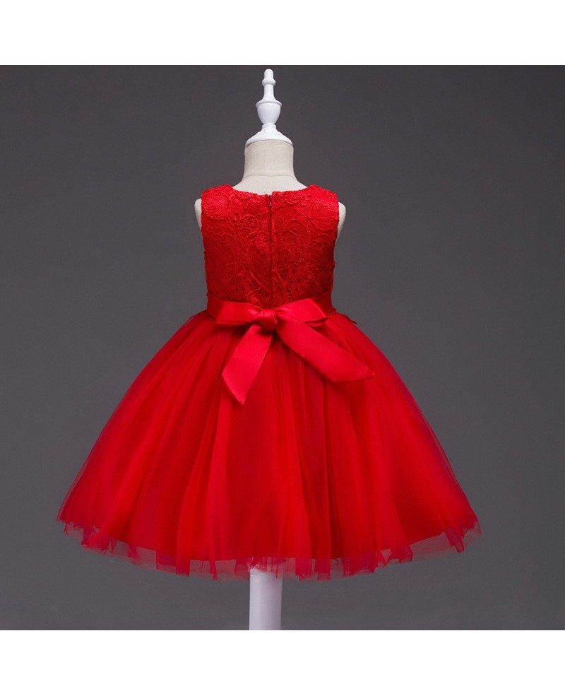 $35.9 Princess Red Lace Flower Girl Dress for Toddler Girls #QX-802 ...