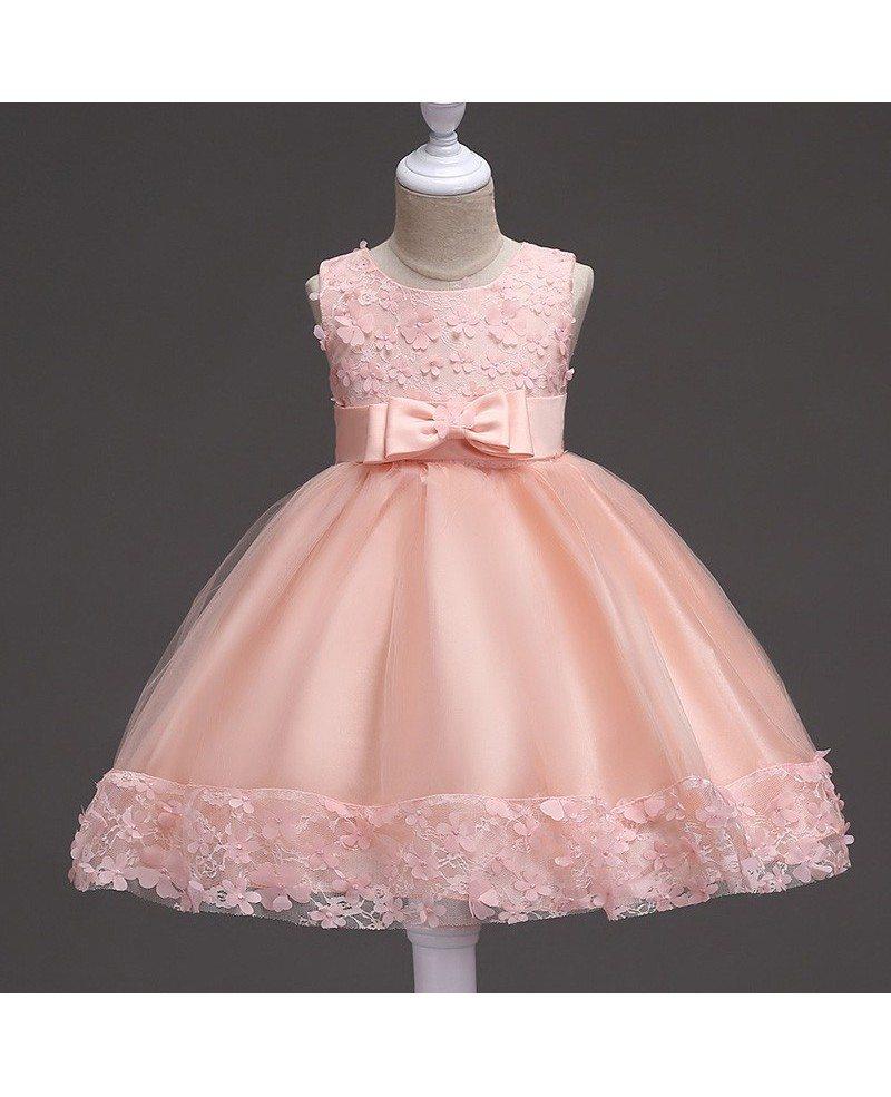 36 9 burgundy short flower girl dress with floral hem for for Dresses for girls for wedding
