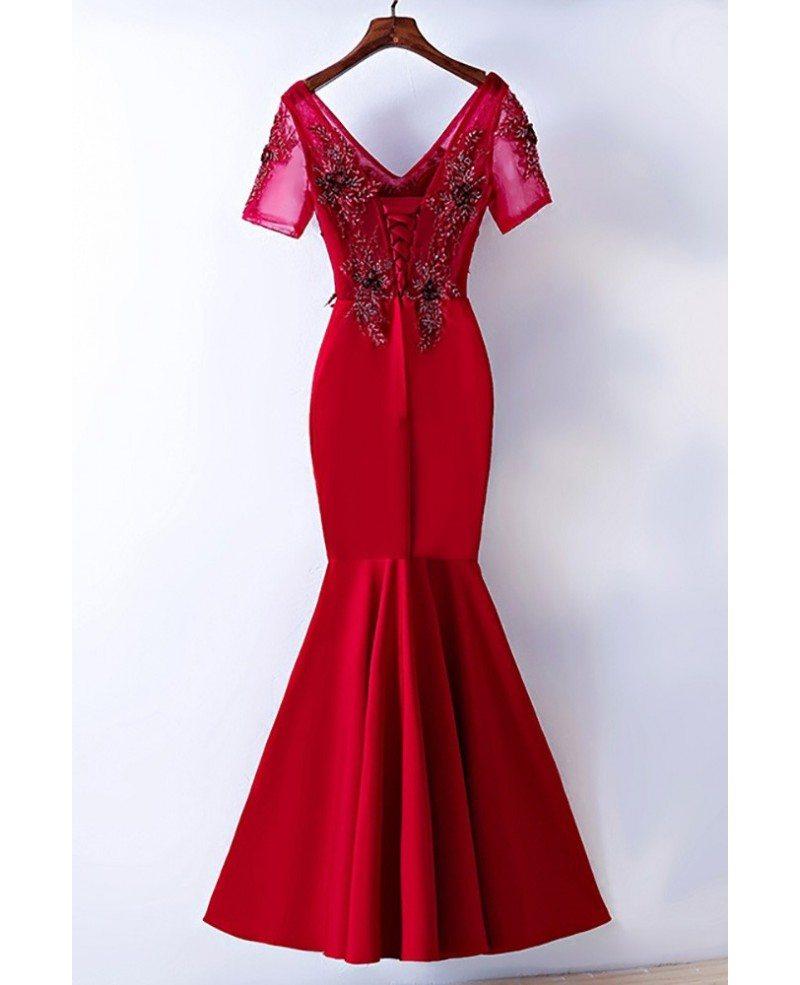 Tight mermaid prom dresses-7786