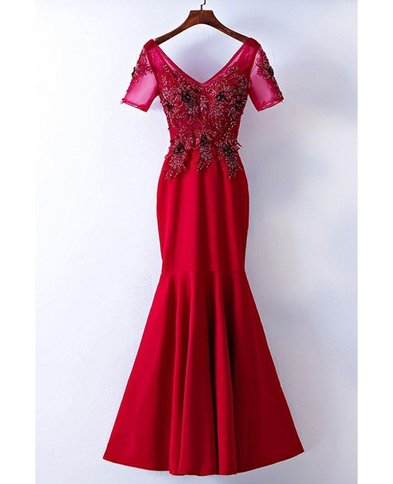 Tight mermaid prom dresses-3166