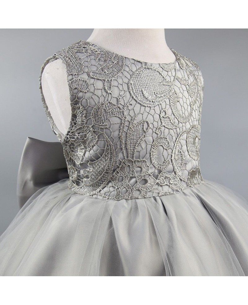 349 grey lace flower girl dress with bow for teen girls qx 996 grey lace flower girl dress with bow for teen girls mightylinksfo