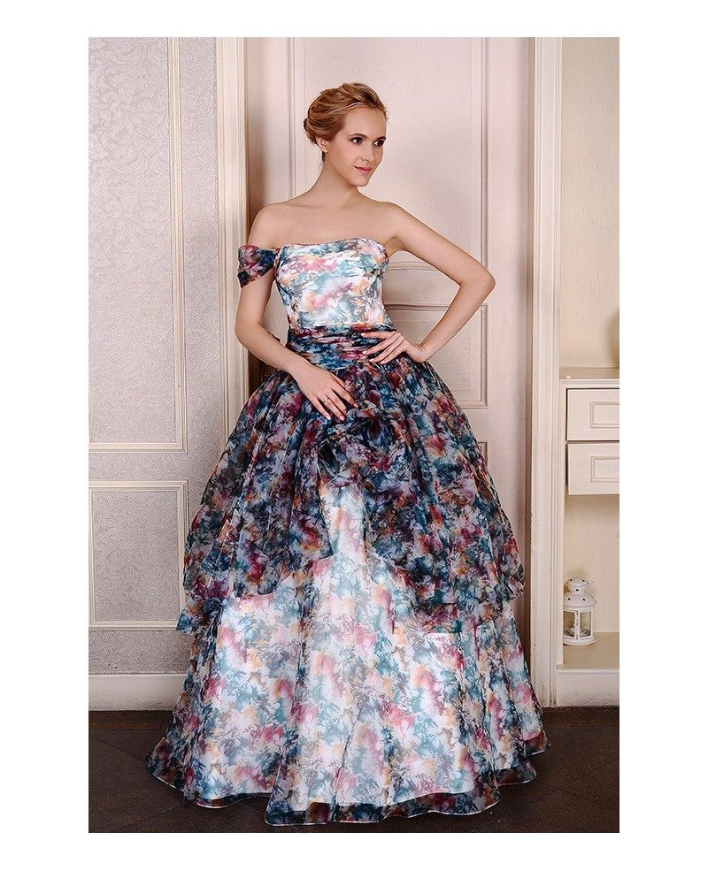 Ball-Gown Strapless Sweep Train Tulle Wedding Dress With