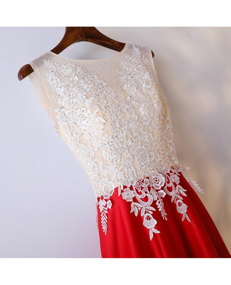Red And White Formal Dresses