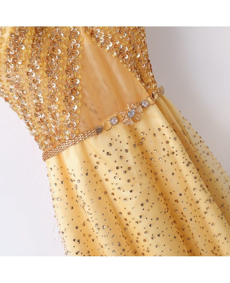 Bling Blig Sparkly Gold Formal - 177.6KB
