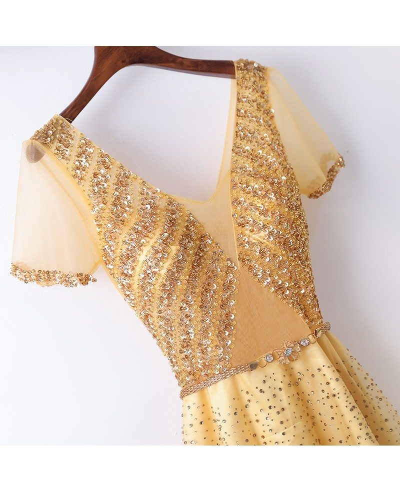 Bling Blig Sparkly Gold Formal - 145.1KB