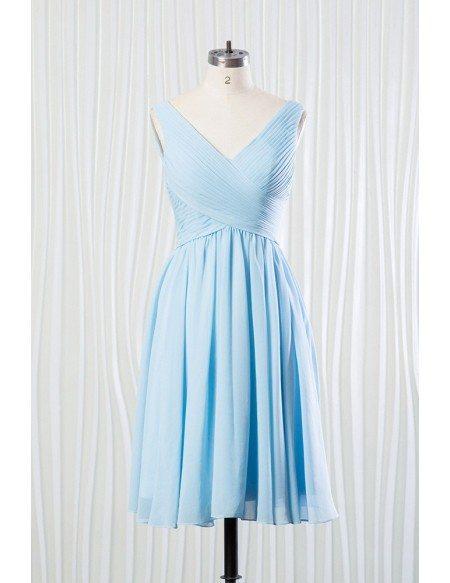 Blue Chiffon Bridesmaid Dresses