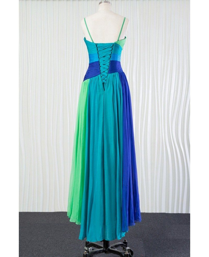 Different blue chiffon bridesmaid dress for summer beach for Blue beach wedding dresses