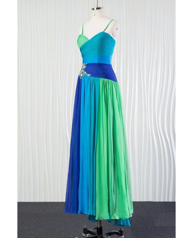 Different blue chiffon bridesmaid dress for summer beach for Summer dresses for wedding party