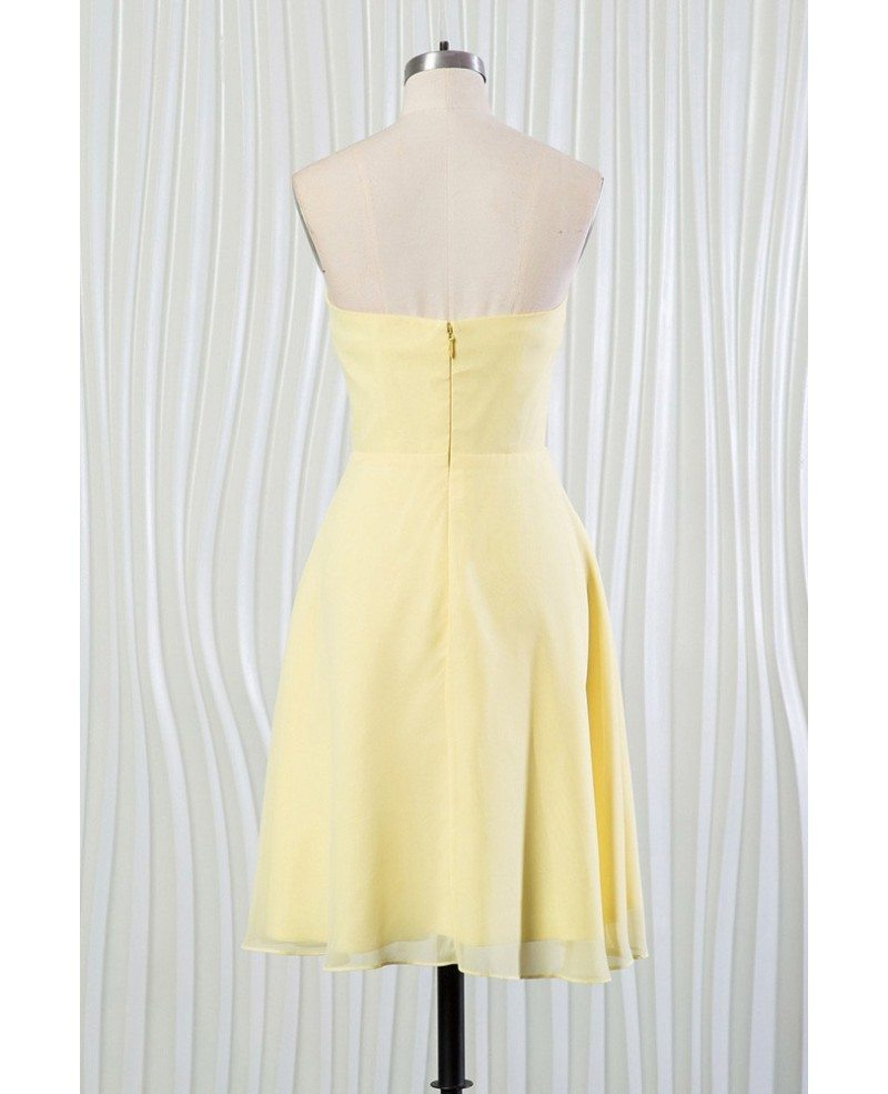 Simple Yellow Summer Bridesmaid Dress With Beading ...
