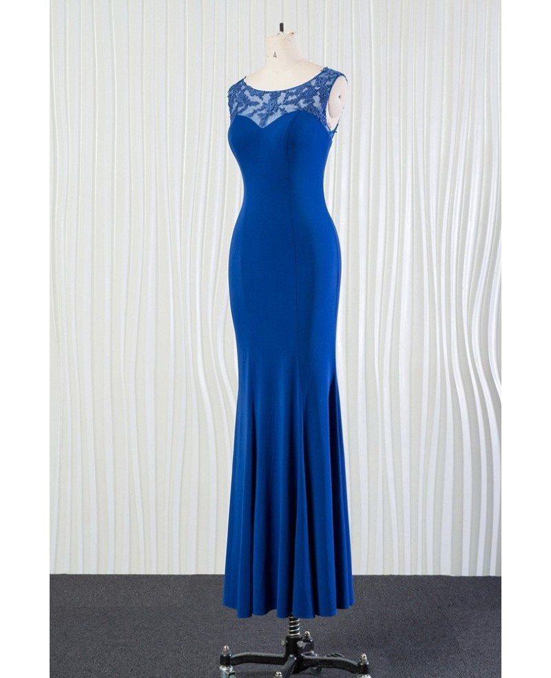 Mermaid fit long blue bridesmaid dress with lace for 2018 spring mermaid fit long blue bridesmaid dress with lace for 2018 spring ombrellifo Choice Image