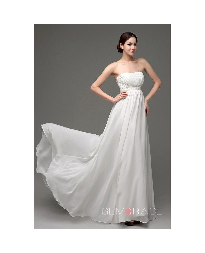A line strapless floor length wedding dress c24249 129 for Floor length dress