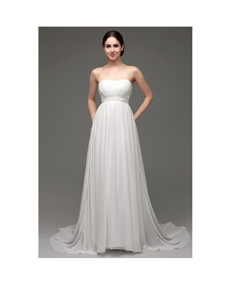 Wedding Gowns A Line Strapless : Wedding dresses gt a line strapless floor length dress