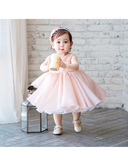 High end Pink Tutu Flower Girl Dress Toddler Girls Pageant