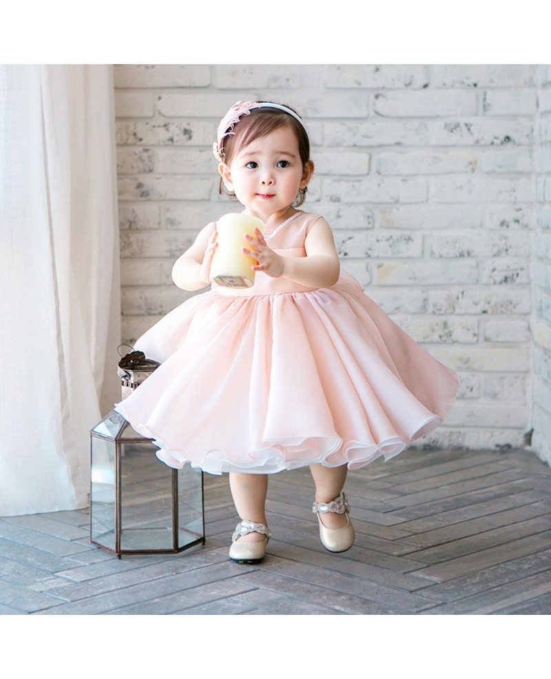 High End Pink Tutu Flower Girl Dress Toddler Girls Pageant Gown