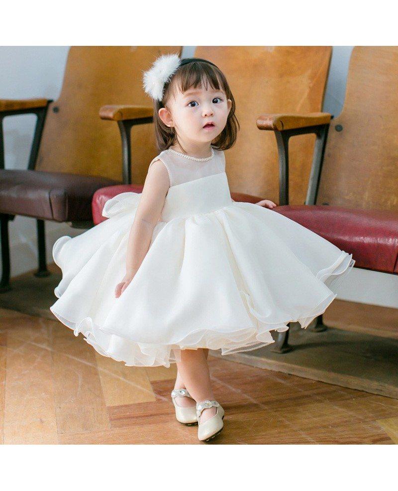 High End Pink Tutu Flower Girl Dress Toddler Girls Pageant Gown