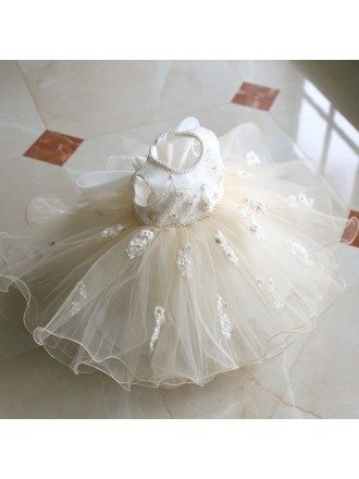 Vintage Puffy Ballet Dance Performance Flower Girl Dress Couture High Quality
