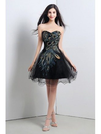 Black Short Formal Dresses Juniors
