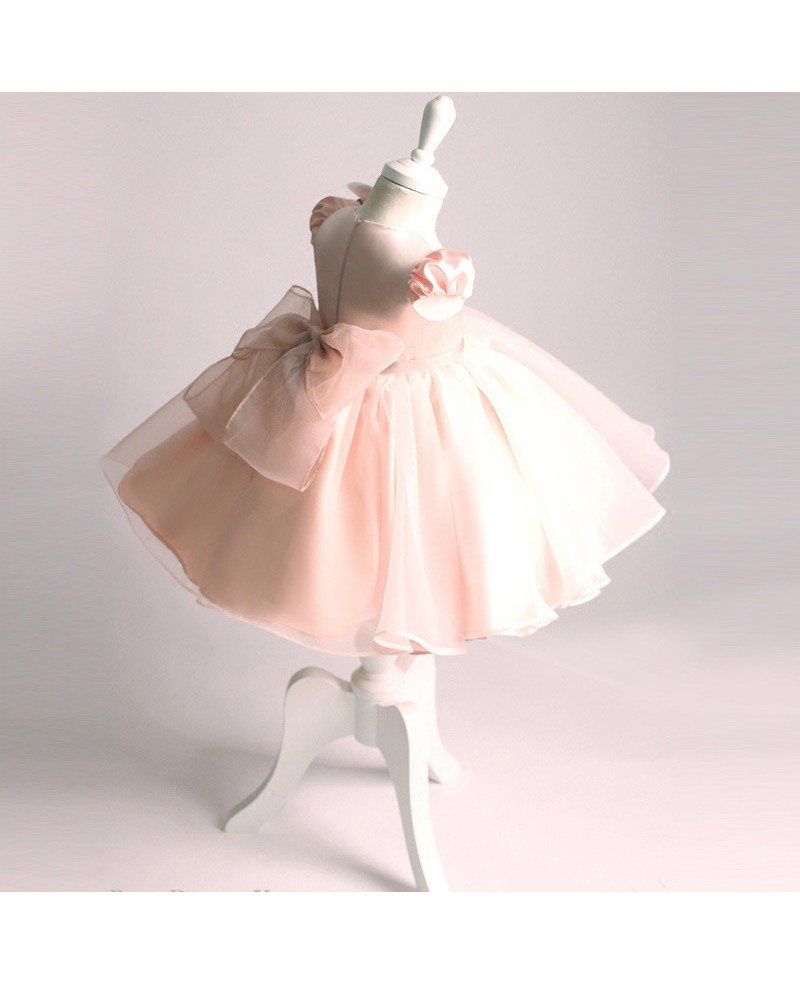 Vintage Pink Princess Ballgown Flower Girl Dress Performance Pageant