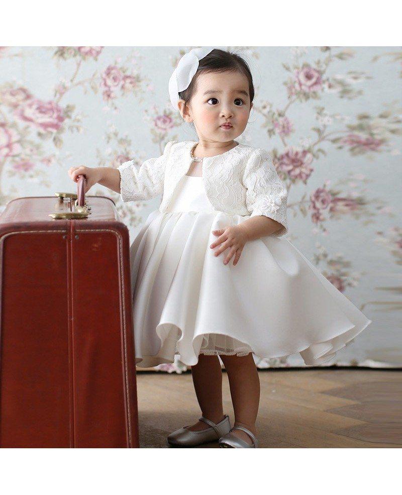 Super cute white princess flower girl dress baby toddler pageant super cute white princess flower girl dress baby toddler pageant gown mightylinksfo