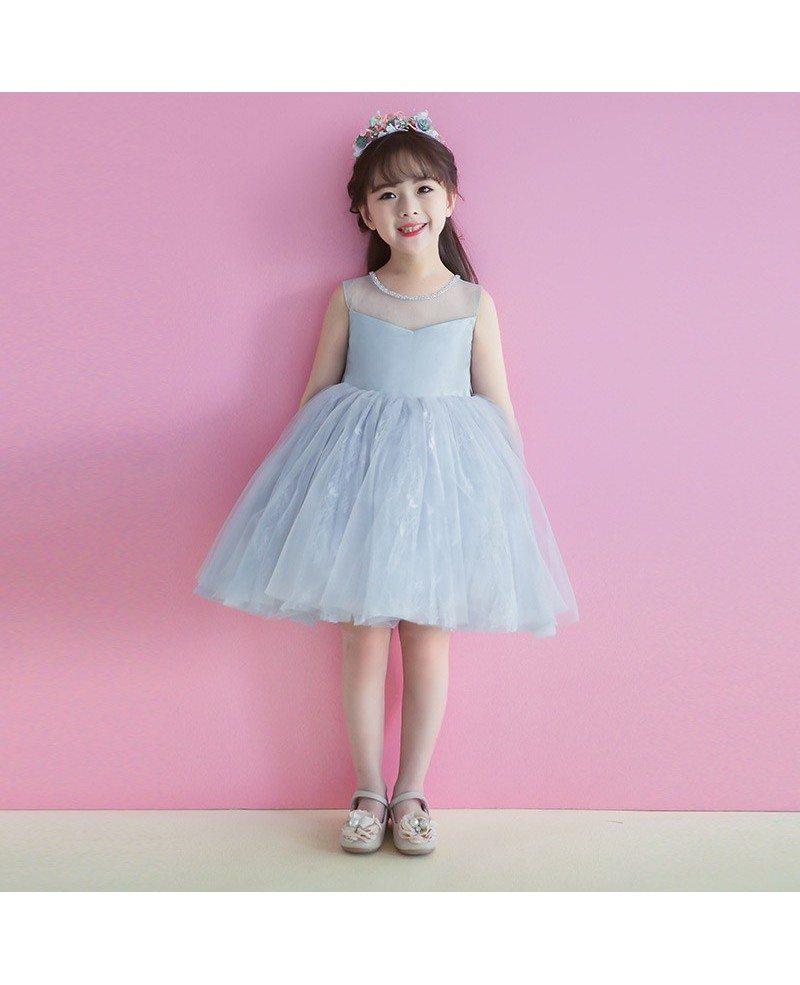 Grey short tutu flower girl dress tulle for weddings teens tg7088 grey short tutu flower girl dress tulle for weddings teens mightylinksfo