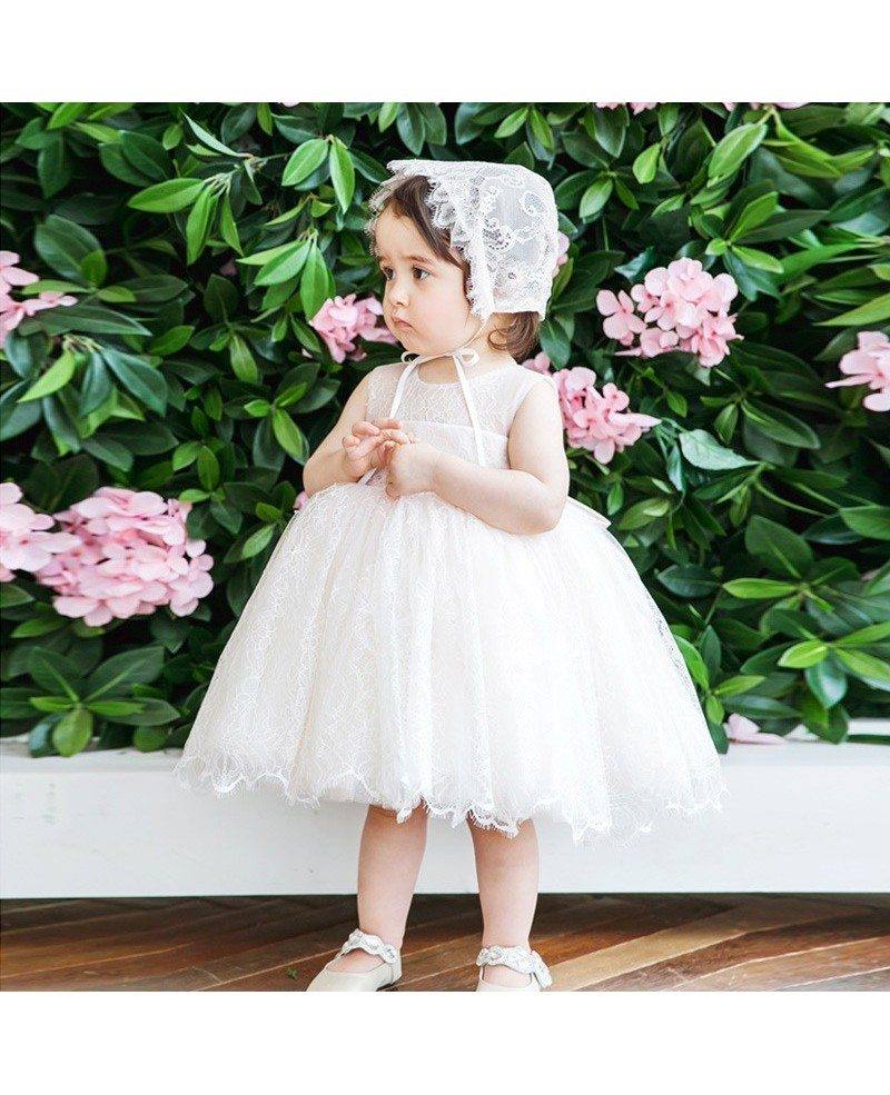 Ivory Lace Princess Flower Girl Dress Toddler Kids Pageant Gown ...