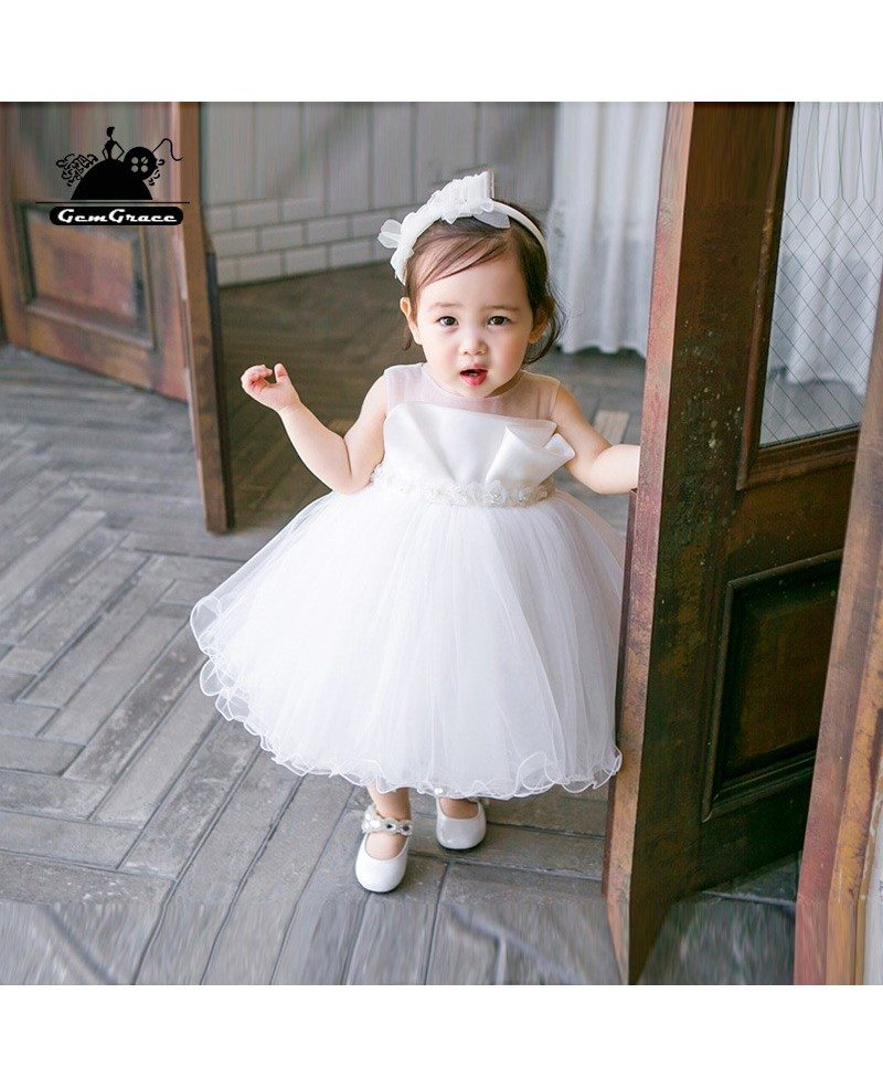 super cute white flower girl tutu dress toddler kids