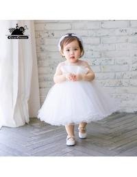 Super cute white flower girl tutu dress toddler kids pageant gown super cute white flower girl tutu dress toddler kids pageant gown mightylinksfo