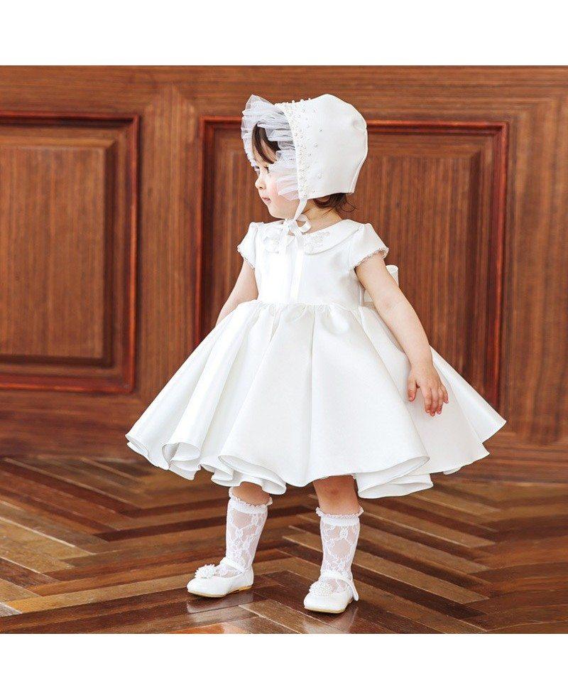 Vintage Baby Collar Princess Flower Girl Dress With