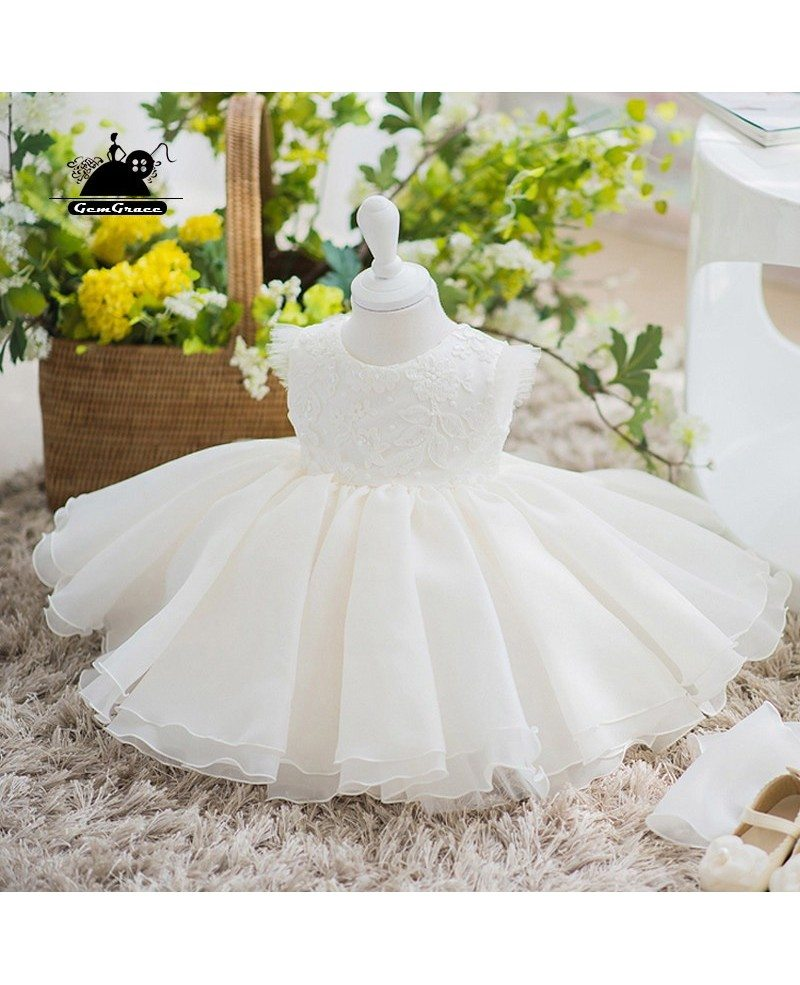 Couture Ivory Flower Girl Dress Wedding Pageant Gown ...